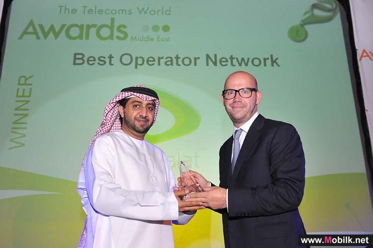 اتصالات الامارات تتألق وتحصد جائزتي أفضل مزود لخدمات المشغلين والمبيعات بالجملة في الشرق الأوسط