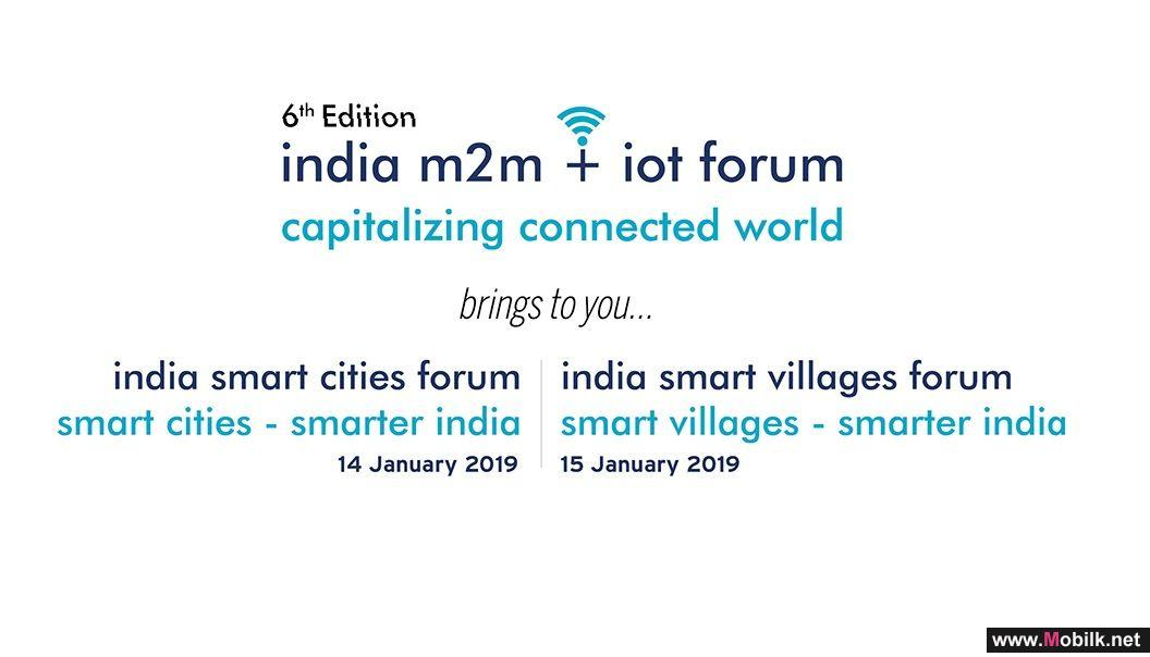 6th Edition of India m2m + iot Forum to open its door on Monday, 14th January 2019 at India Habitat Centre New Delhi, India