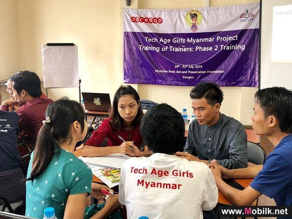Ooredoo Myanmar Continues to Empower Women by Supporting Tech Age Girls to Attend Phase II of ToT (Training of Trainers)
