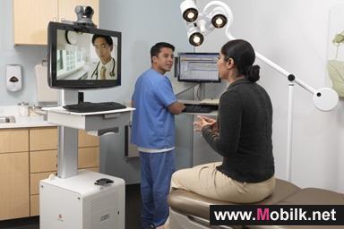 تقنية بوليكوم للتواجد الهاتفي المرئي تساعد 35 مؤسسة طبية في 13 دولة