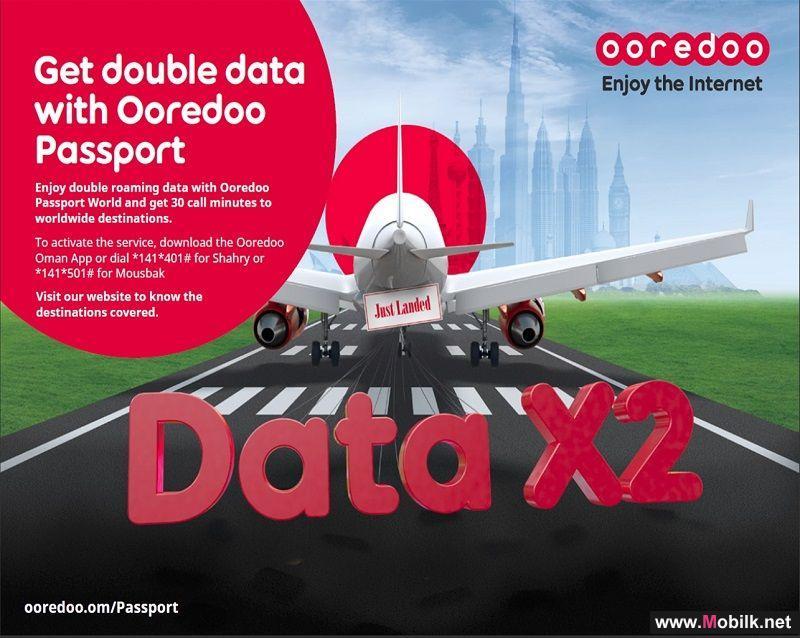 Double Data to all Ooredoo Passport World Travelers