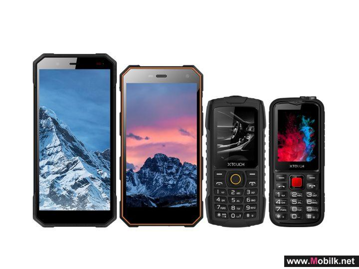 XTouch Announces the Launch of the Robot Family Range of Rugged Mobile Phones