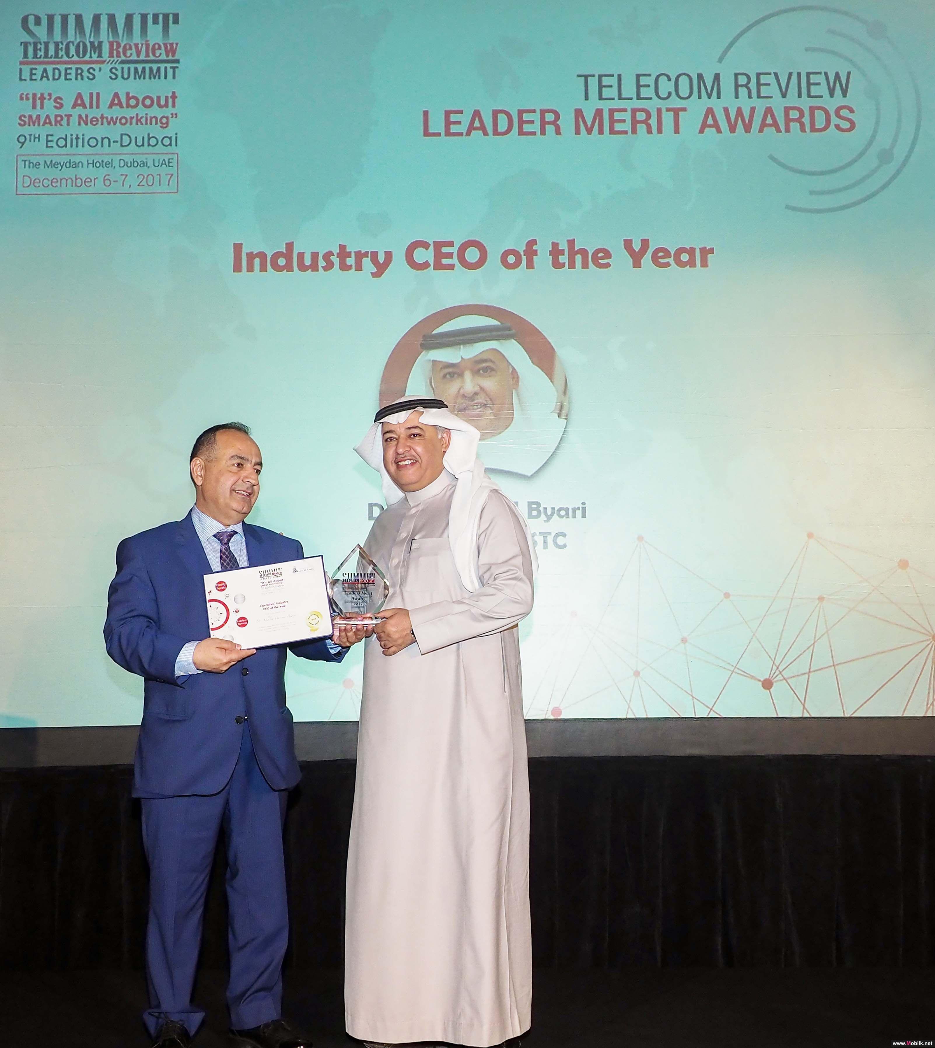 البياري يتوج بجائزة أفضل رئيس شركة اتصالات في العام 2017