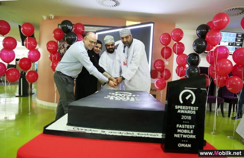 Ooredoo's Celebrates Oman's Mobile Network Speed Award