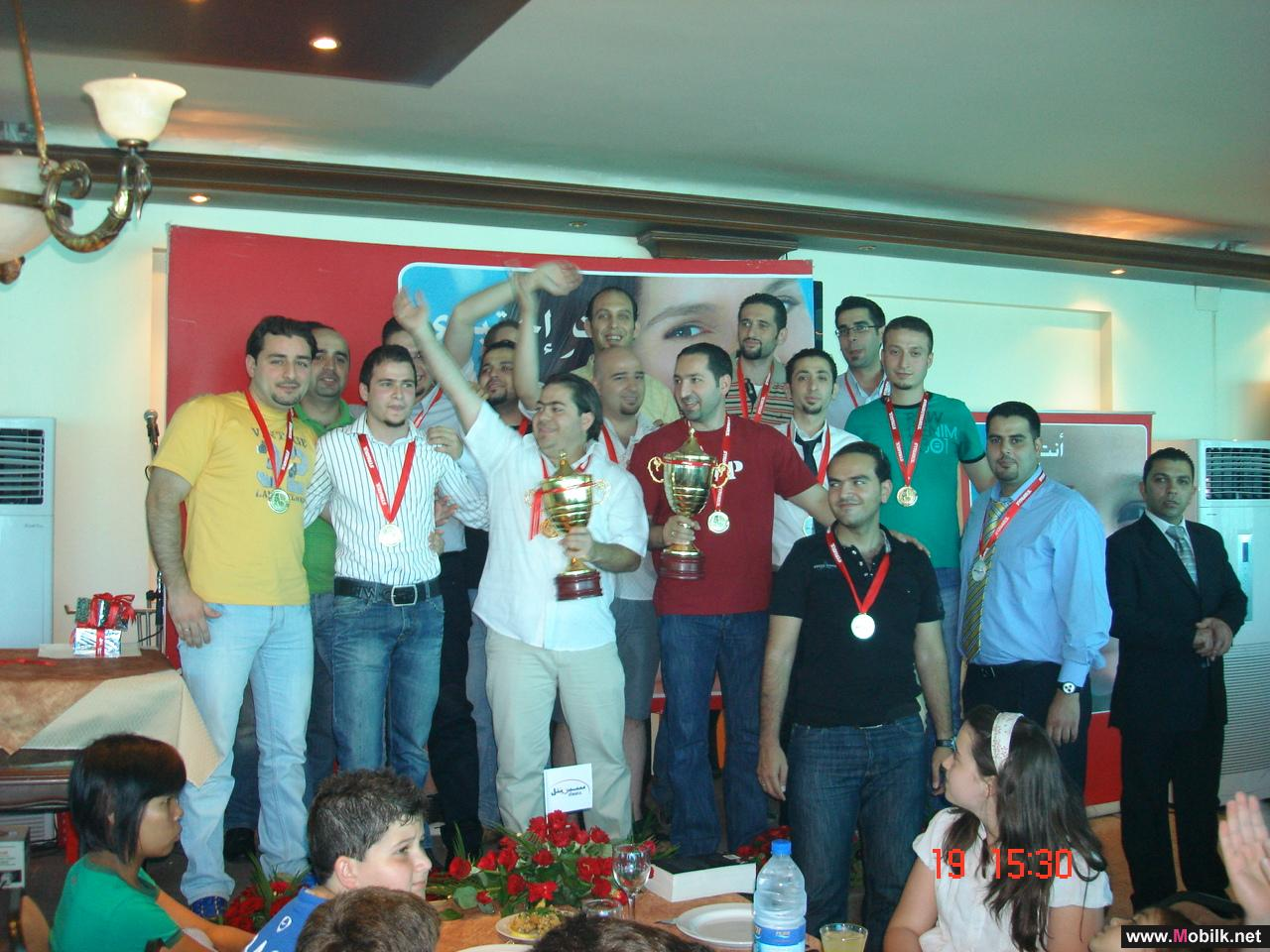 Syriatel Company honors its football and basketball winning teams
