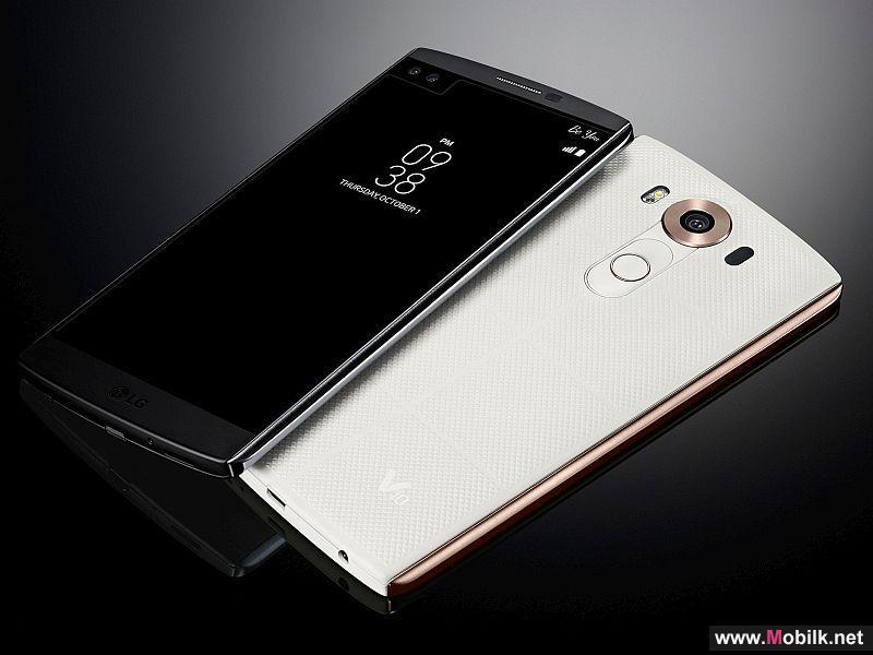 إل جي تكشف عن الهاتف LG V10 بشاشتين وكاميرتين أماميتين