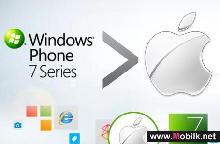 دراسة : تفوق نظام ويندوز فون 7 على منافسه من شركة ابل