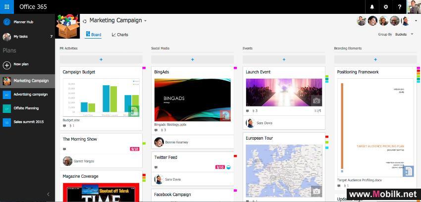 أحدث تطبيقات إدارة المشاريع مايكروسوفت بلانر متاح الان لمستخدمي دولة الإمارات