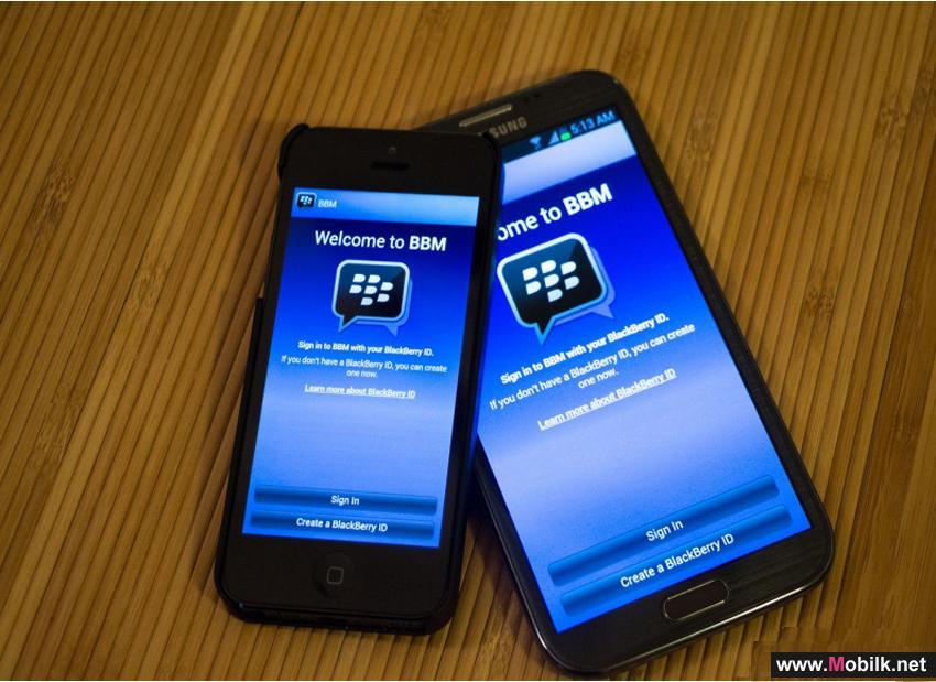 بلاك بيري يطلق تحديث لـ BBM يسمح بالمحادثات مع أنظمة أندرويد وآبل