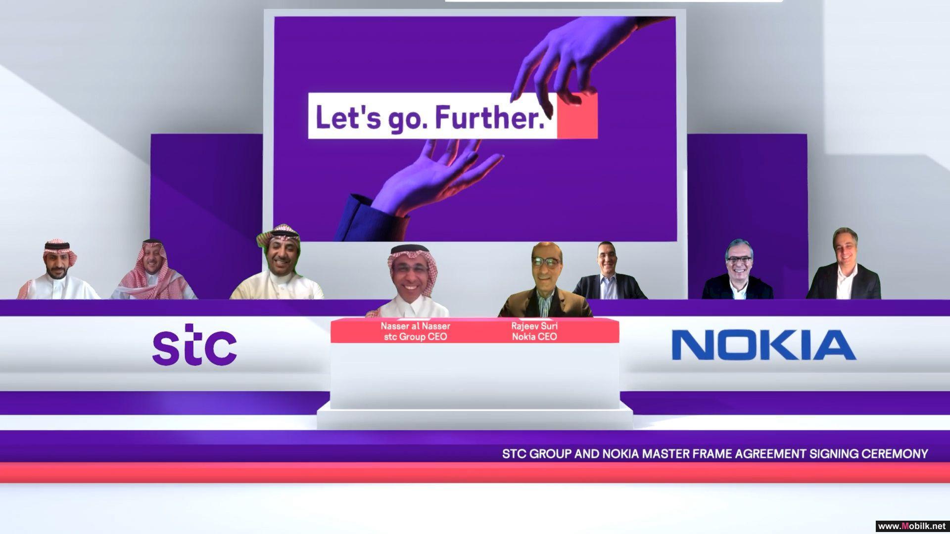 اتفاقية استراتيجية بين stc ونوكيا بمراسم توقيع عبر
