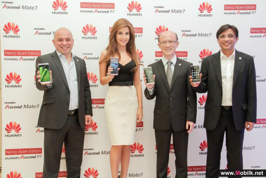 Huawei Announces Nancy Ajram as Brand Ambassador at Ascend Mate 7 Smartphone Launch