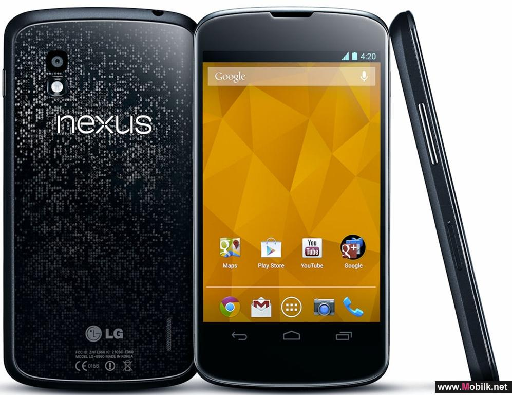 LG Nexus 4 the new Smartphone from Google available exclusively at Batelco