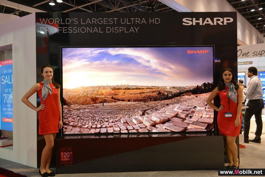 شارب تكشف عن أكبر شاشة عرض فائقة الوضوح في العالم خلال معرض