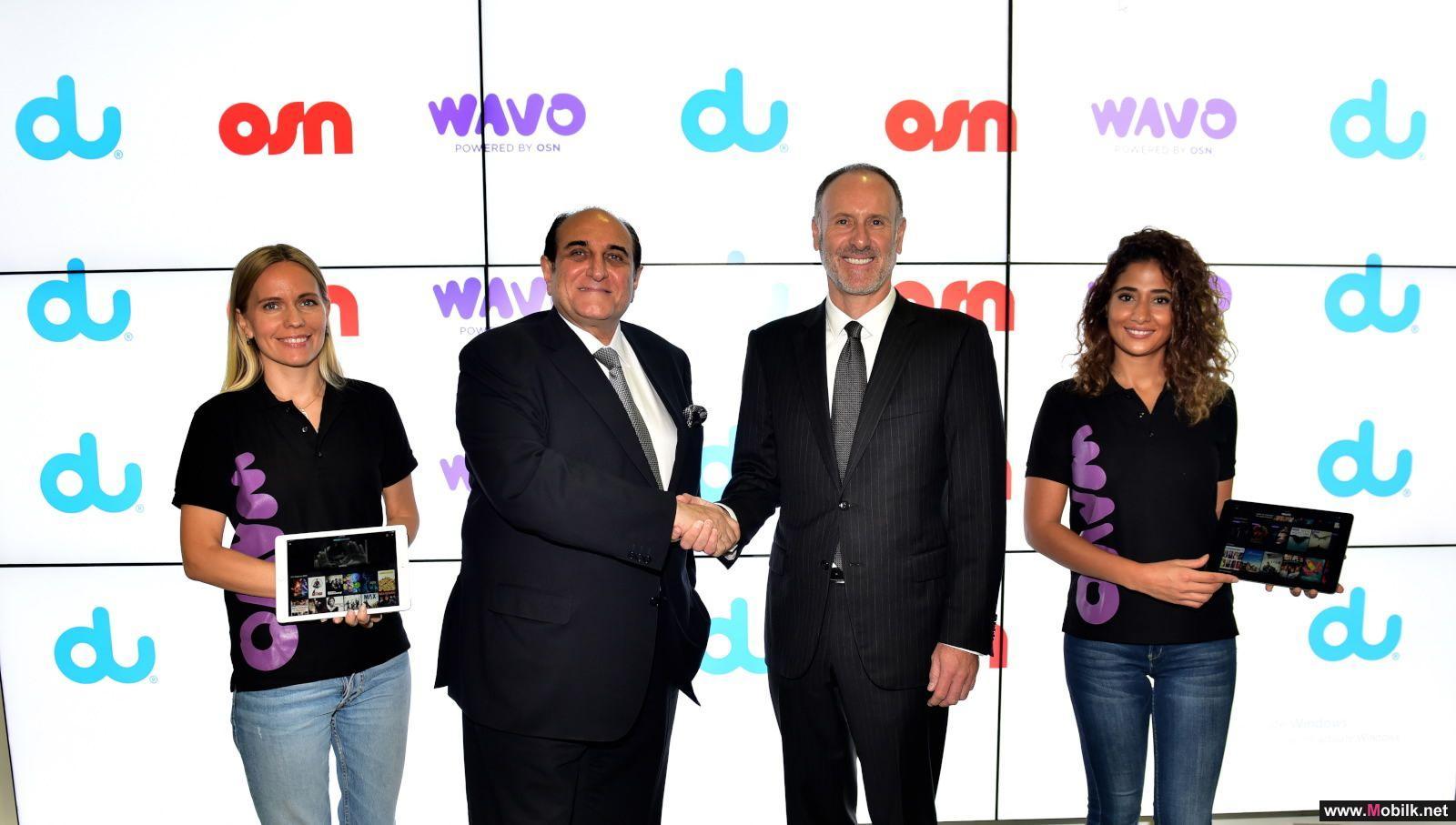 دو توقع اتفاقية شراكة مع شبكة قنوات OSN خلال جيتكس 2017 لتوفير اشتراك حصري لعملائها في تطبيق WAVO الترفيهي