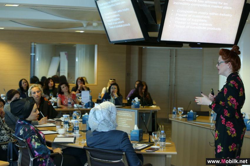 ورشة عمل مجلس سيدات أعمال دبي وهاوس أوف كومس عن موضوع استخدام وسائل التواصل الاجتماعي