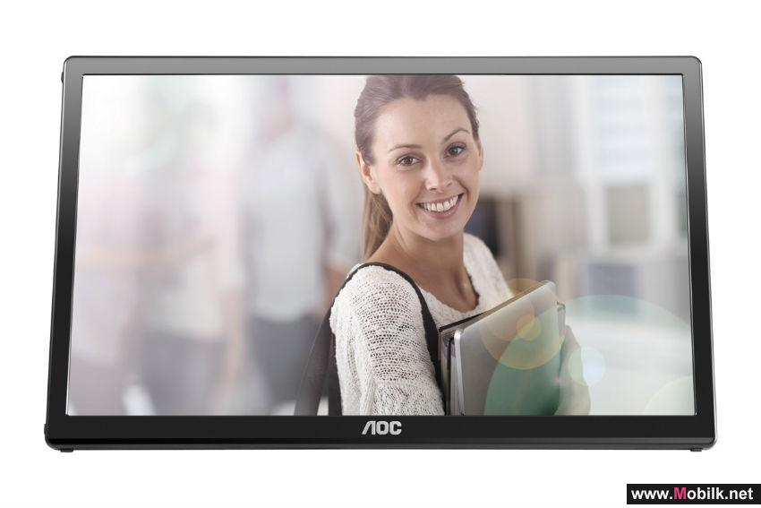 Multi-tasking for mobile users: AOC presents portable monitor