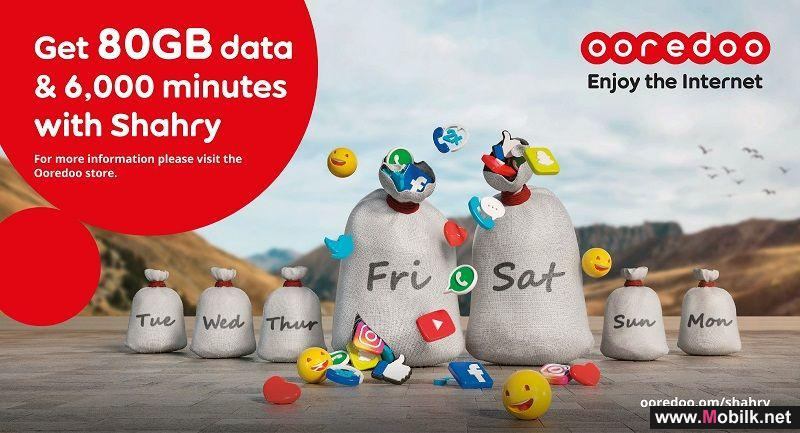 Ooredoo Shahry Offer Gives Double Weekend Data and Minutes