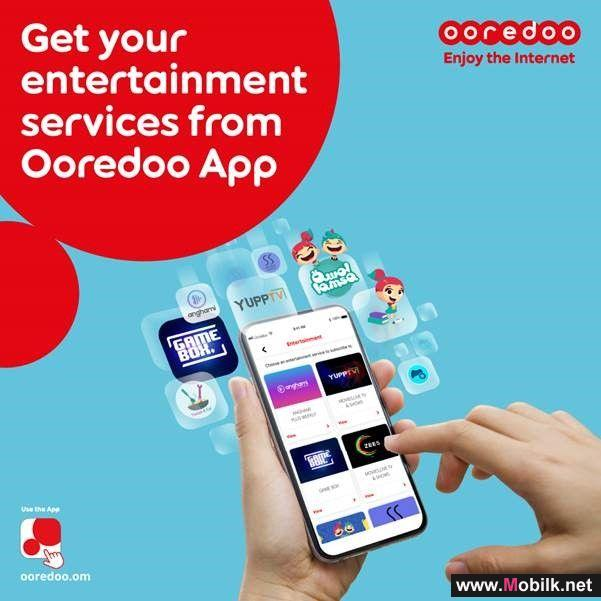 Watch, Listen and Play with Ooredoo's New Entertainment Service on the App