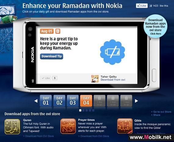 نوكيا تؤكد التزامها تجاه المجتمع المحلي خلال شهر رمضان المبارك