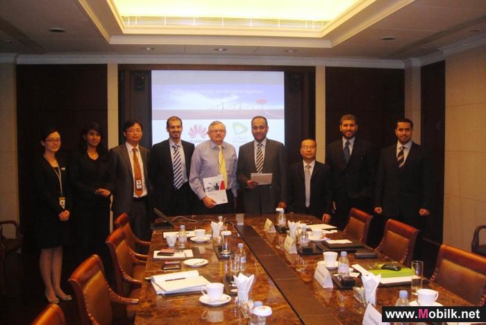 توقيع مذكرة تفاهم لتعزيز التعاون الإستراتيجي بين اتصالات الامارات و هواوي