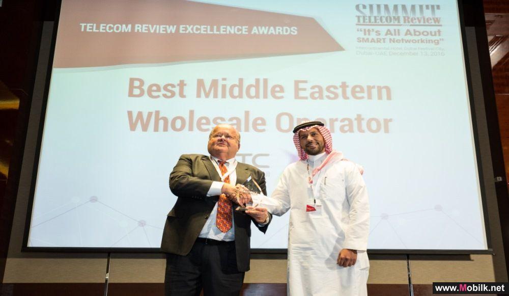 STC تفوز بجائزة افضل مشغل لخدمات النواقل والمشغلين بالشرق الاوسط