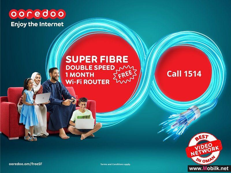 Ooredoo Extends Free Double Speed Offer for Super Fibre Customers