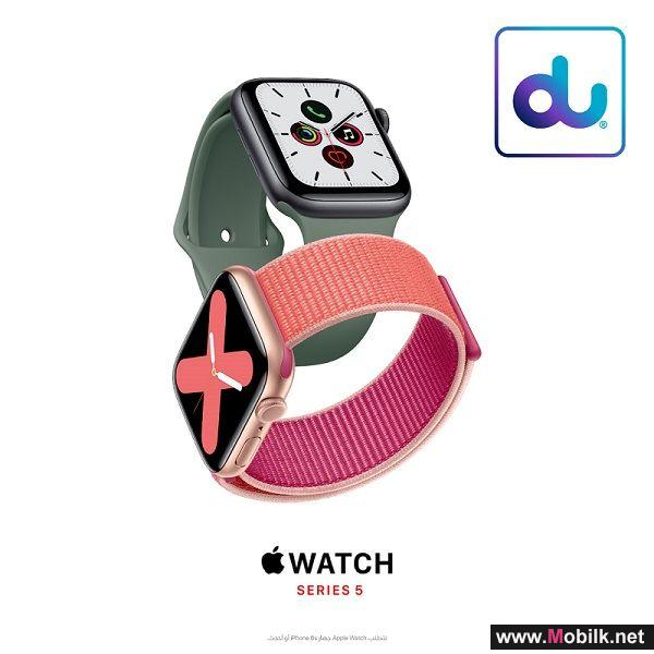 Apple Watch Series 5 with built-in cellular arrives at du on 1st November