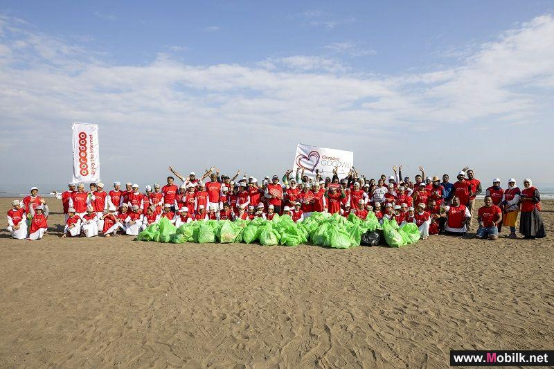 Volunteers Gather to Clean Up Sur Al Hadid Beach with Ooredoo