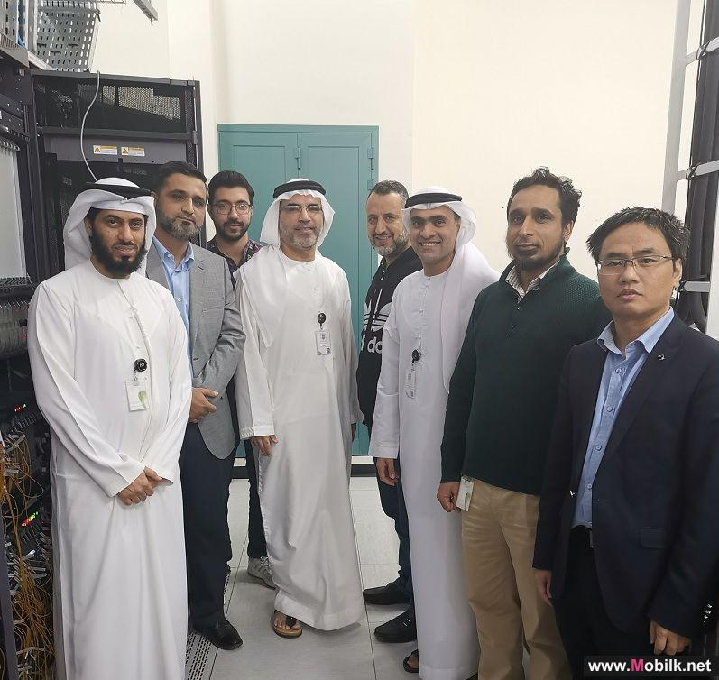 Etisalat and Huawei Jointly Complete Testing of the Industrys First Single-Wavelength 600G Trial Site