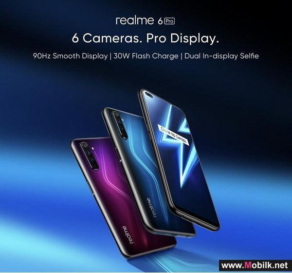 ريلمي تطلق أحدث هواتفها الجديدة كليًا، ريلمي 6 برو وريلمي سي 3