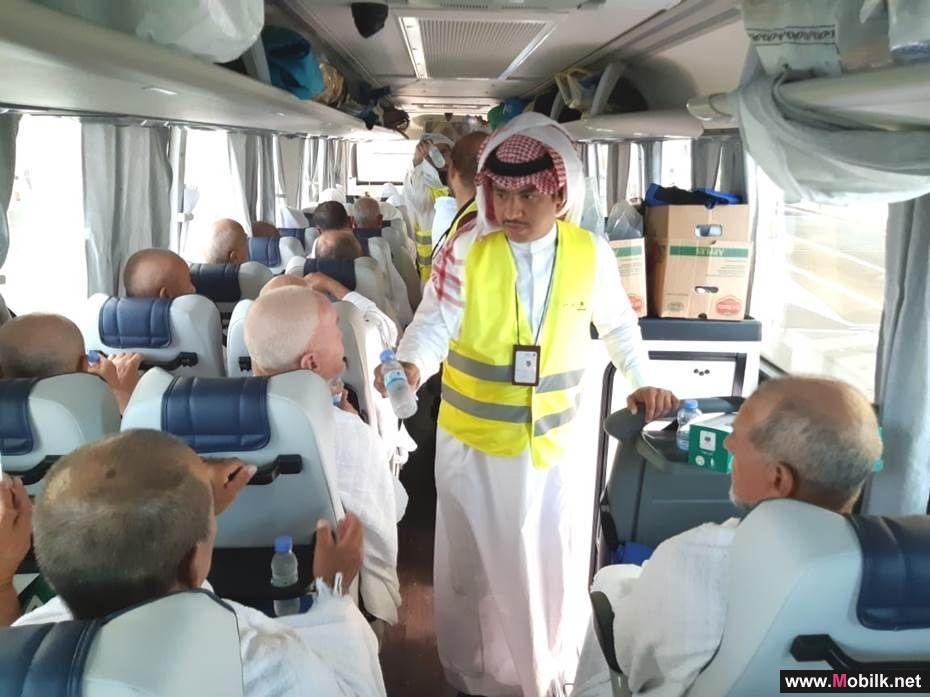 الاتصالات السعودية تستقبل ضيوف الرحمن بسقيا زمزم ووجبات الضيافة