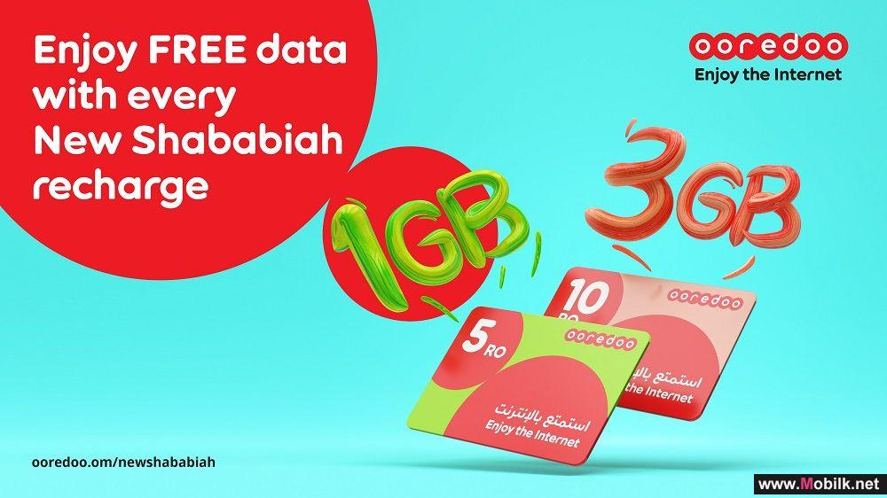 Ooredoo Gives New Shababiah Customers Free Data with Every Recharge