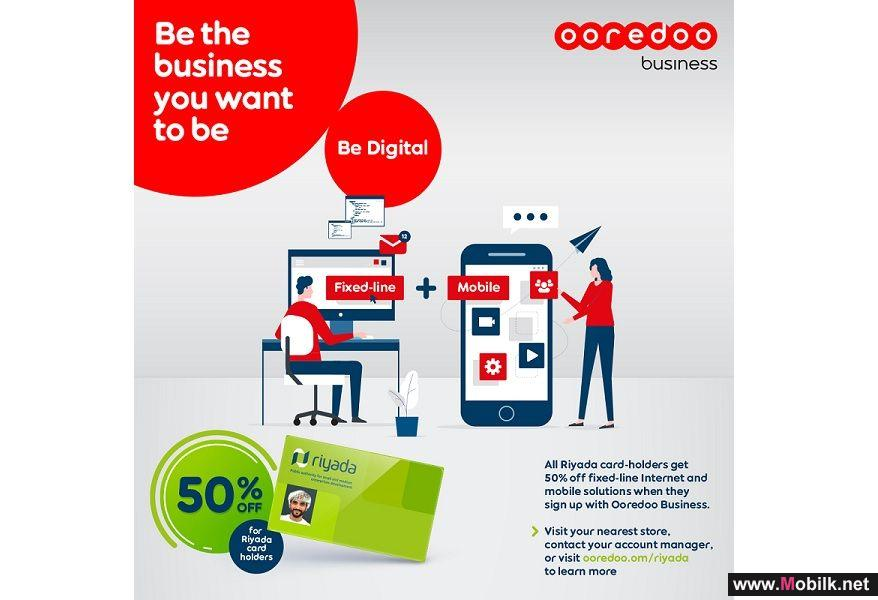 Ooredoo Offers Riyada Cardholders the Chance to Benefit from 50% off Monthly Internet Subscriptions
