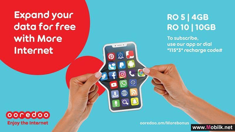 Ooredoo Gives Prepaid Customers Fantastic Free Internet Allowances