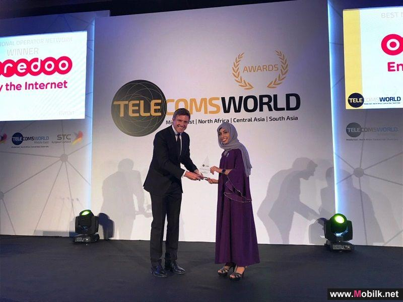 Ooredoo Wins 'Best Operator Network' and 'Best Digital Content Service' in at Telecom World Middle East Awards
