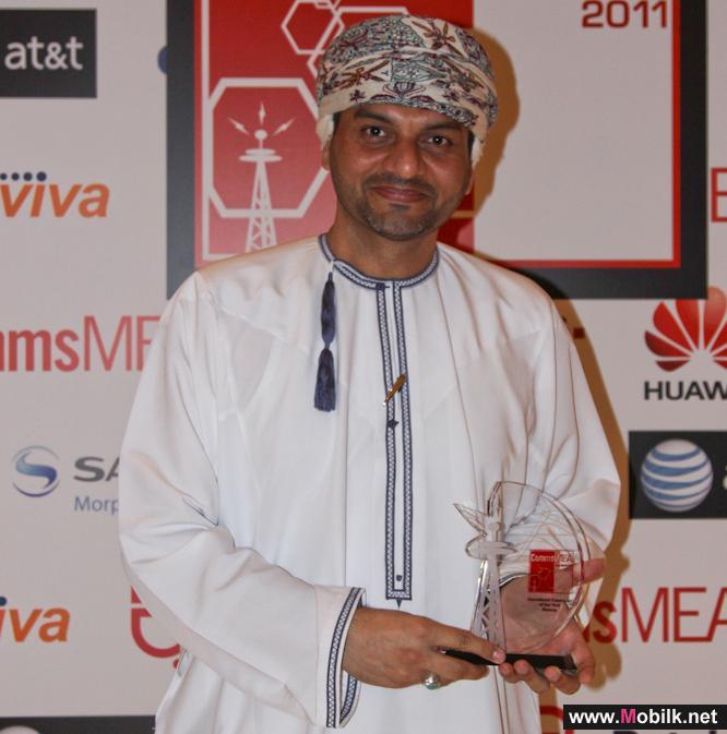 النورس تتسلم جائزة التوسع في عمليات الإتصالات لعام 2011