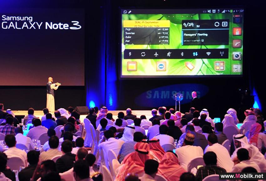 Saudi Arabia witnesses the launch of Samsung GALAXY Note3