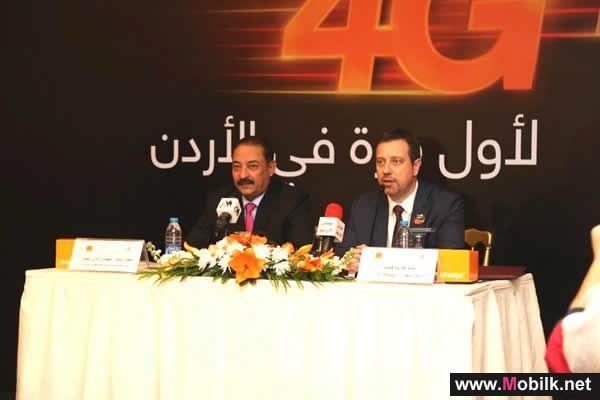 Orange الأردن تطلق رسميا خدمات الجيل الرابع المتقدم 4G+