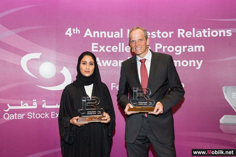 Ooredoo Wins a Total of Five Awards at Qatar Stock Exchange