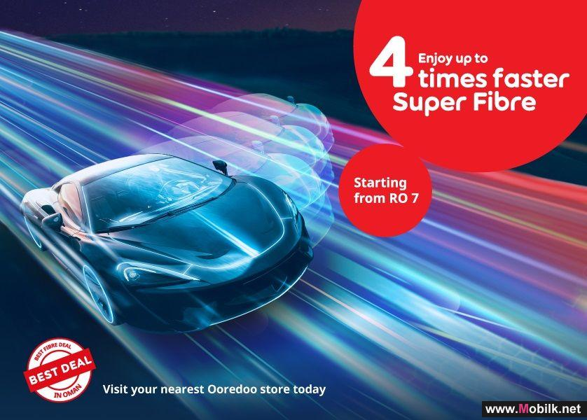 Up to 4X Speed Add-Ons for Super Fibre Plans Now Available Through the Ooredoo App