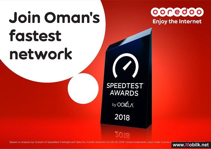 Ooredoo Awarded Fastest Mobile Network in Oman by Ookla