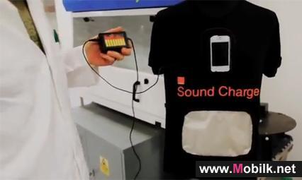 شركة اورنج البريطانية تطلق  قميص لشحن الهواتف من طاقة الضوضاء
