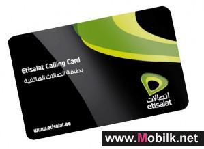 with etisalat calling card talk globally and pay locally - Payphone Calling Cards