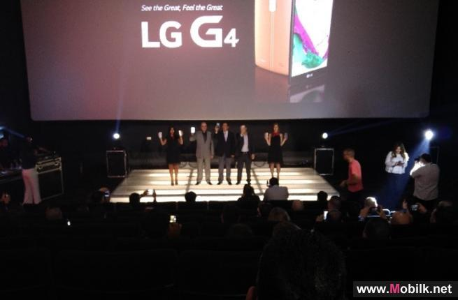 إل جي إلكترونيكس تزيح الستار عن هاتفها الاستثنائي الذكي الجديد G4 في ظهوره لأول أمام شبكة موزعيها للهواتف الخلوية وممثلي الصحافة