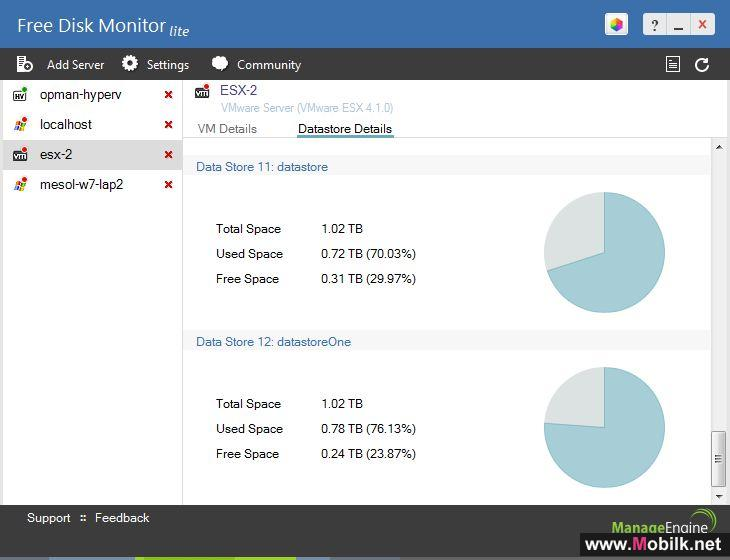 ManageEngine Launches Free Disk Monitor Lite Monitors Disk Space on Unlimited Windows, VMware, and Hyper-V Servers