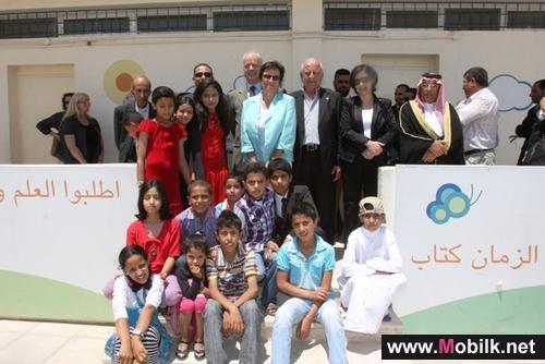 اورنج  Orange الأردن تطلع على سير مشاريعها في قرية رجم الشامي