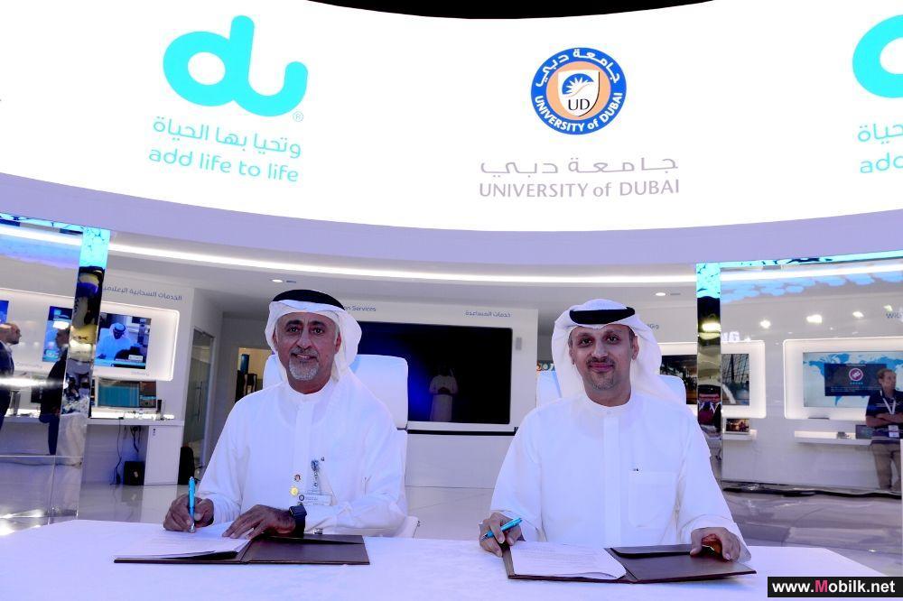 دو وجامعة دبي توقعان مذكرة تفاهم لتعزيز التعاون في مجال تطوير تقنيتي الجيل الخامس وإنترنت الأشياء