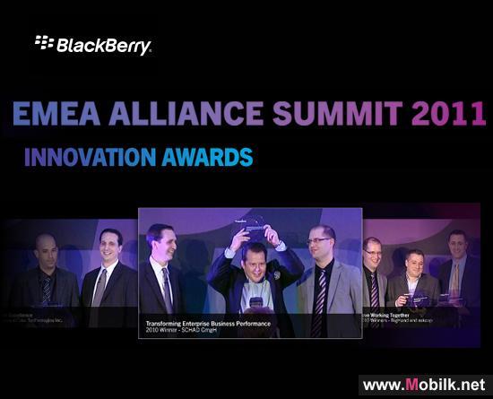RIM تعلن أسماء الفائزين في جوائز ابتكار BlackBerry