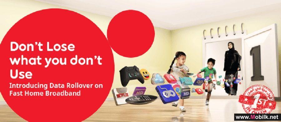 Ooredoo Oman introduces 'Data Rollover' for the 1st time in Oman exclusively for its Fast Home broadband customers