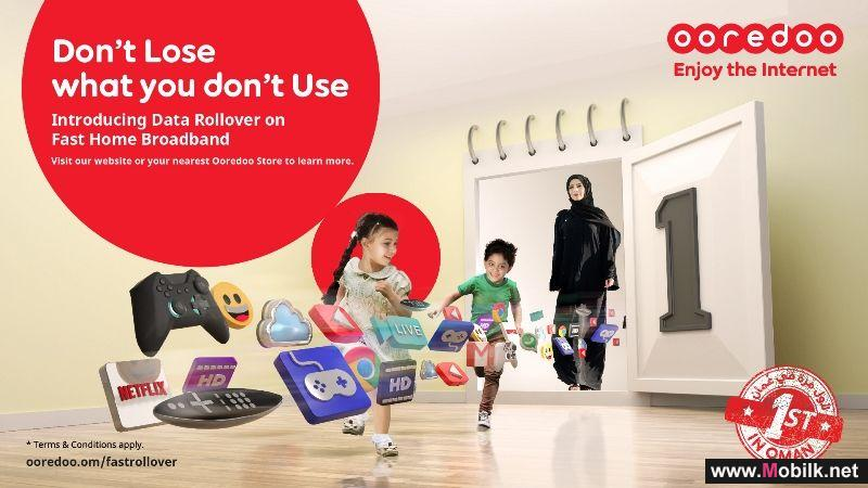 Ooredoo Offers Data Rollover on Fast Home Broadband